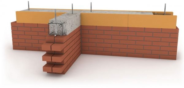 Схема установки армопояса на кирпичной стене