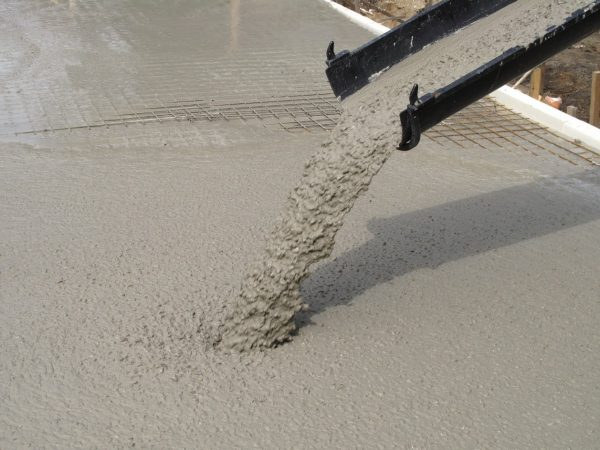 Подача бетонного раствора