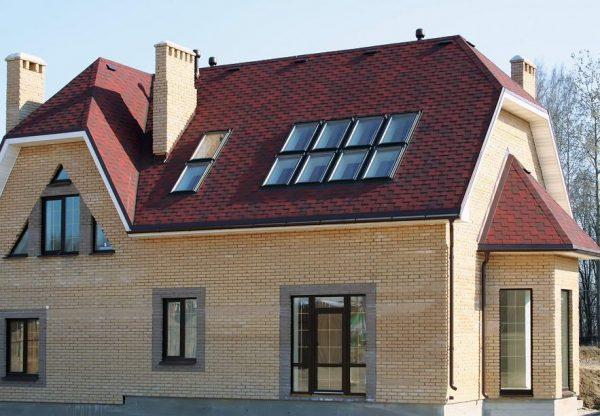 Пример мансардной крыши