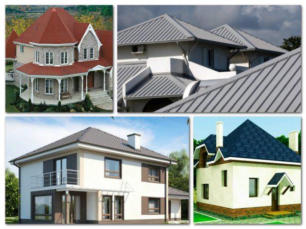 Варианты шатровых крыш зданий