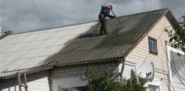 Мойка крыши