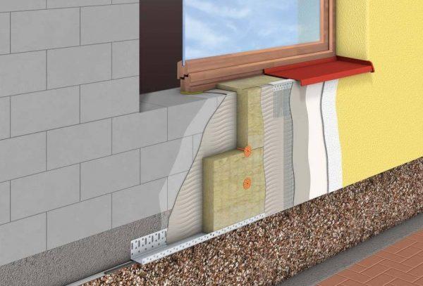 Схема облицовка стен и фасада дома пенопластом