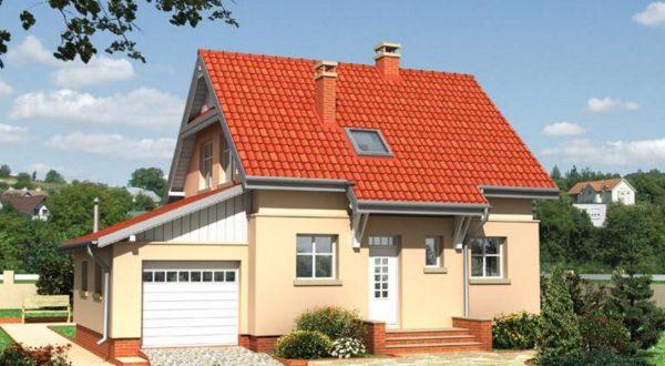 Одноуровневая мансарда с двускатной крышей