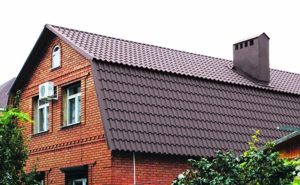 Одноуровневая мансарда с ломаной двускатной крышей