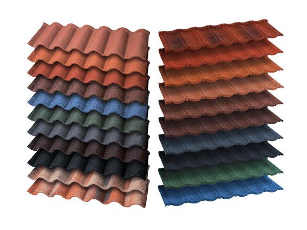 Разнообразие цветов композитной церепицы