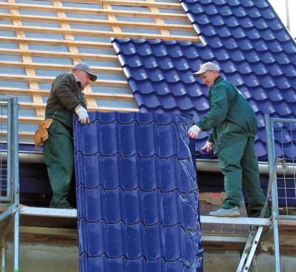 Распределение листов металлочерепицы на крыше