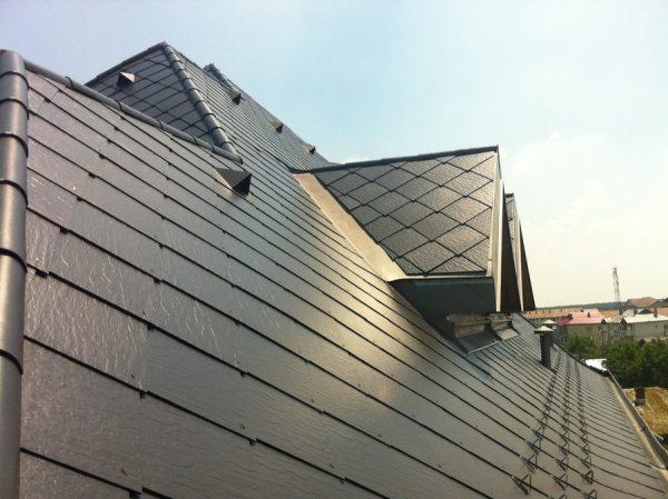 Цинк-титан на крыше