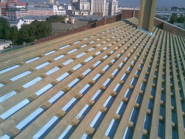 Обрешётка для фальцевой крыши