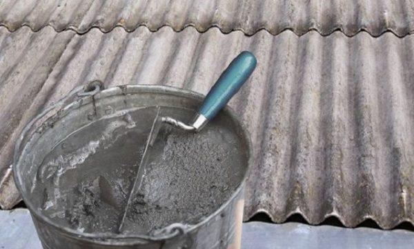Цементная смесь для шиферного покрытия