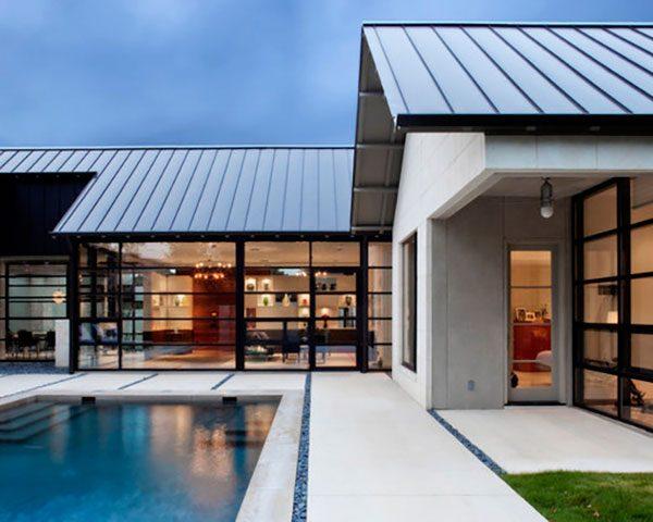 Крыша из фальцевых панелей, изготовленных по рулонной технологии