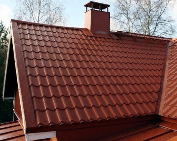 Проход дымохода через конёк крыши