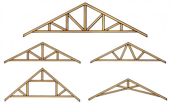 Стропильная система в зависимости от уклона крыши