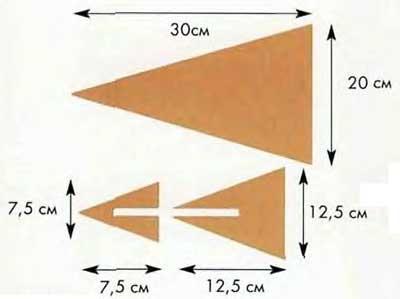 Схема флюгера из фанеры