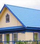 Яркая крыша дома