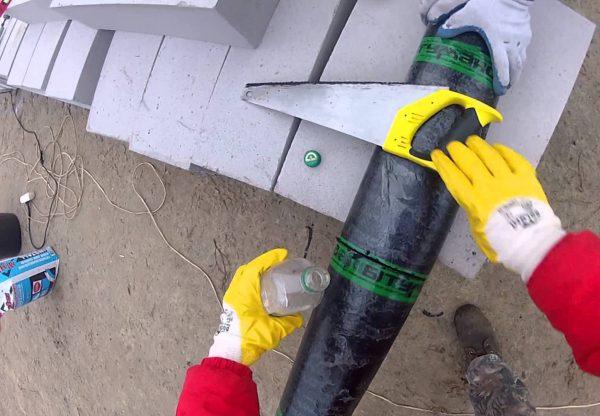 Распиливание рулона