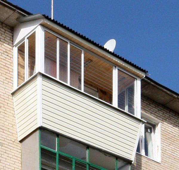 Готовая крыша балкона