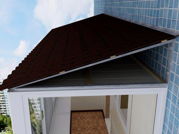 Структура крыши балкона