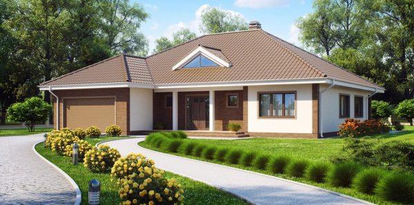 Дом, совмещённый с гаражом