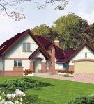 Дом с гаражом, объединённые переходом