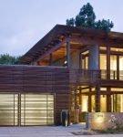 Дом с гаражом в современном стиле