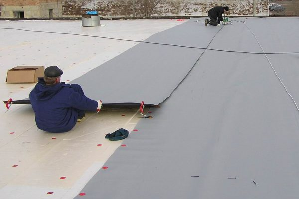 ЭПДМ-мембрана на крыше