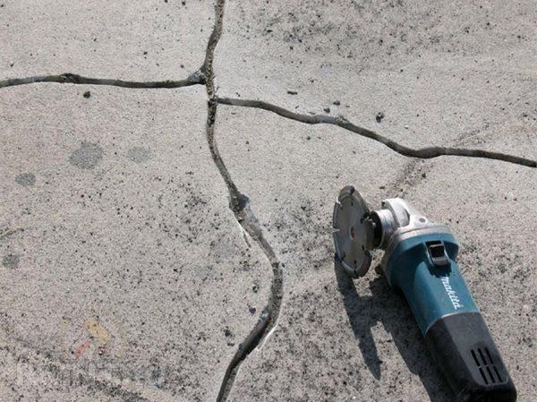 Ремонт трещин на бетонной плите перекрытия