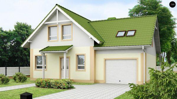 Дом Т-образной формы со встроенным гаражом