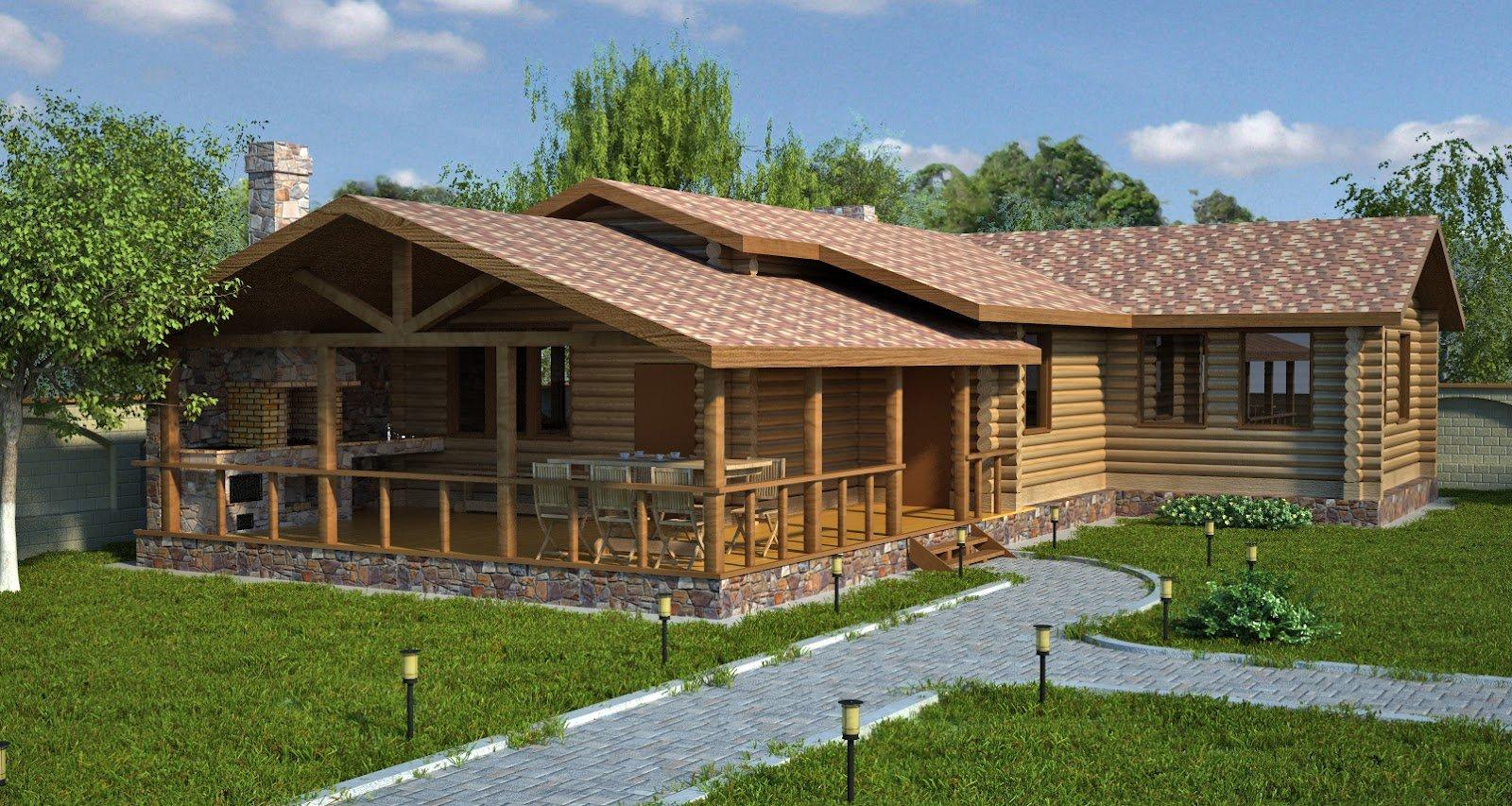 Построить дом с баней под одной крышей