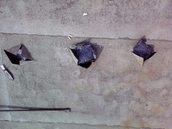 Локальный ремонт вздутий на кровельном покрытии