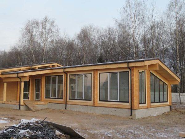 Дом, совмещённый с баней и бассейном