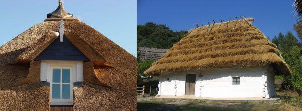 Крыши из камыша и соломы
