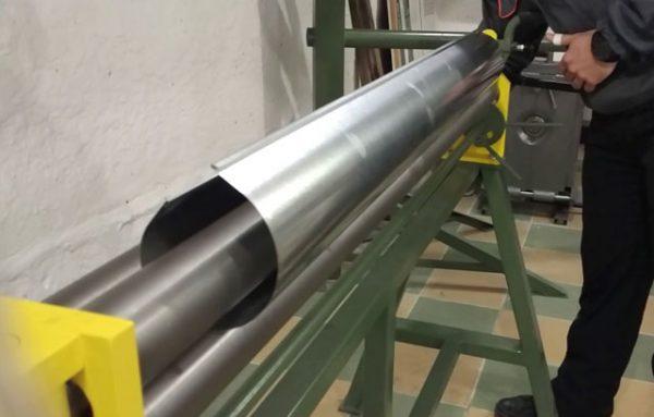 Изготовление трубы из оцинковки