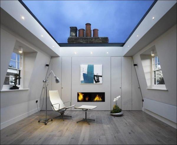 Крыша из стеклопакета крупного размера