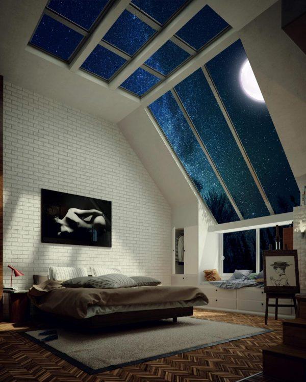 Крыша мансарды из прозрачного оргстекла