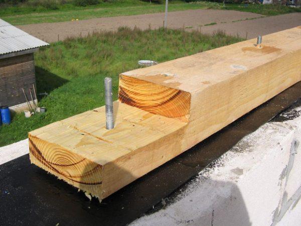 Мауэрлат для крыши бани