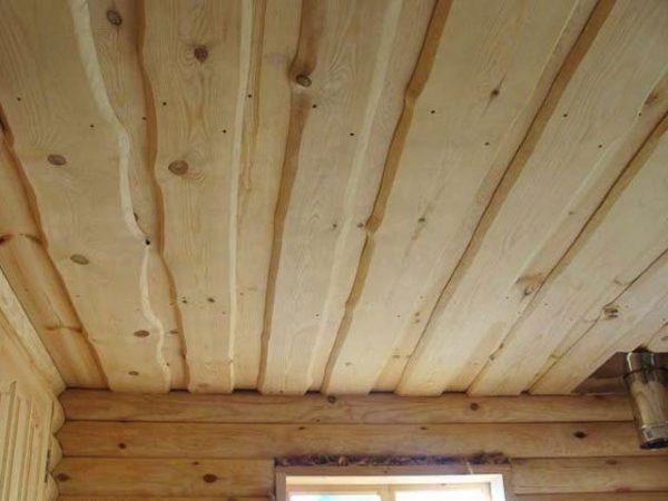 Утепление потолка бани настильным способом