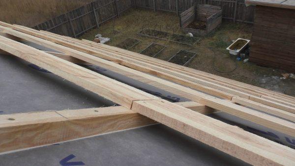 Монтаж обрешётки и контробрешётки для крыши бани