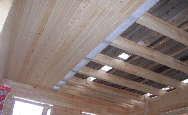 Внутренняя отделка крыши и потолка бани