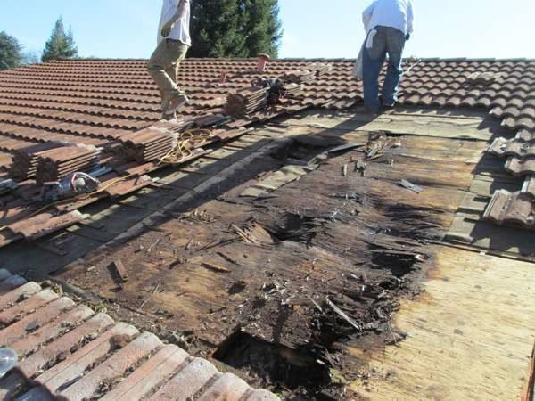 Ремонт крыши бани