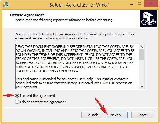 Лицензионное соглашение Aero Glass