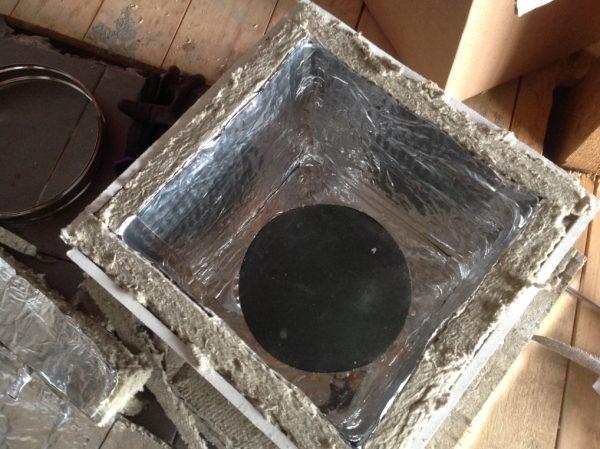 Короб для прохода перекрытия