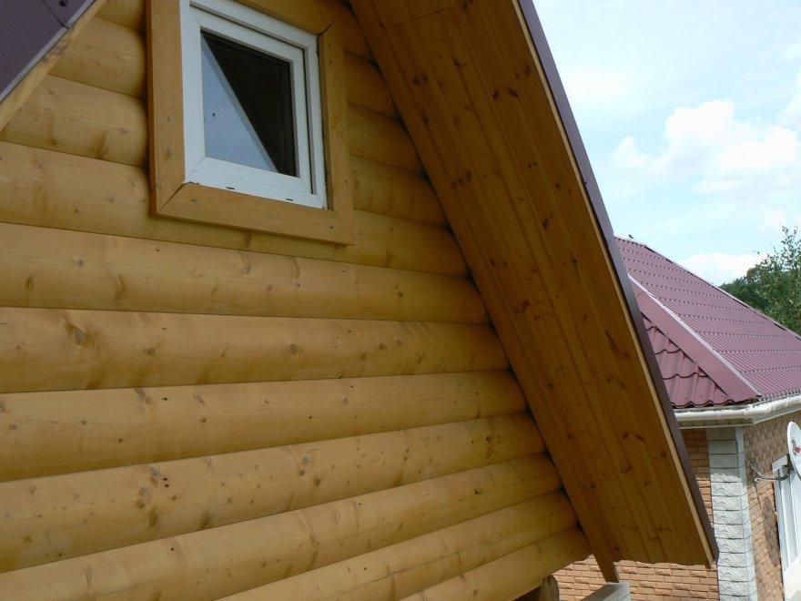 отделка фронтонов деревянного дома фото сухой метод