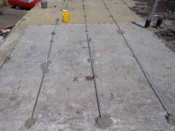 Чистая бетонная крыша