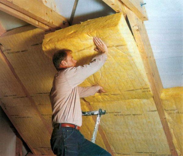 Внутренняя теплоизоляция крыши