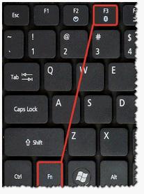 Регулирование яркости с помощью клавиатуры