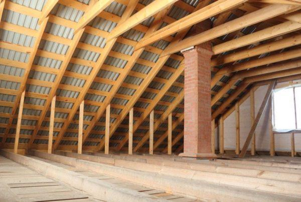 Подготовленная крыша для устройства теплоизоляции
