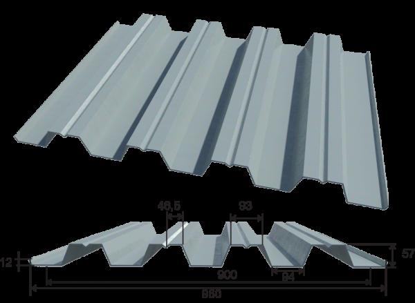 Конструкция и параметры профнастила Н57