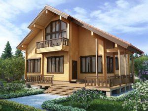 деревянная крыша деревянного дома