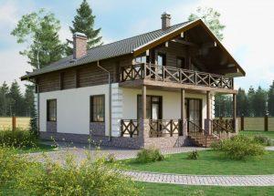 Шикарный вариант реконструкции частного домовладения с надстройкой второго этажа в стиле шале