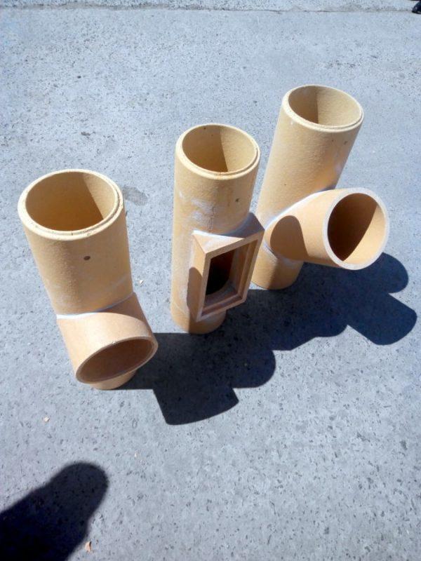 Элементы керамических дымоходов